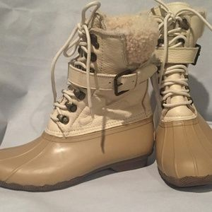 SPERRY Fur lined Saltwater Duck Boots